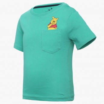 JUNIORS Pooh Imprint Half Sleeves T-Shirt