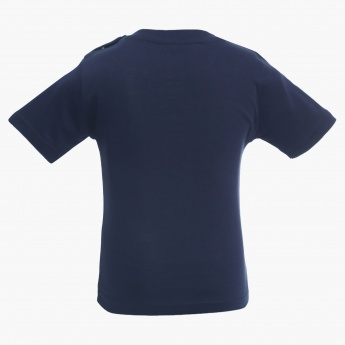 JUNIORS Patch Chest Pocket Crew Neck T-Shirt