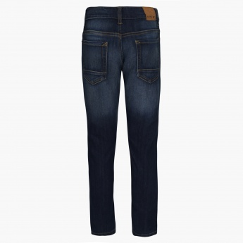 FAME FOREVER Kids Whiskered Wash Slim Fit Jeans