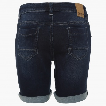 FAME FOREVER Kids Denim Roll-Up Shorts