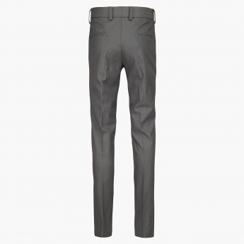 FAME FOREVER Flat Front Slim Fit Trousers