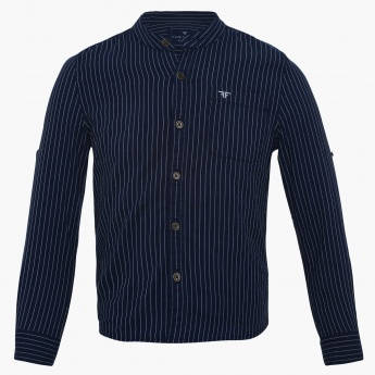 FAME FOREVER Striped Full Sleeves Shirt