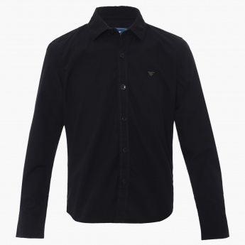 FAME FOREVER Solid Full Sleeves Shirt
