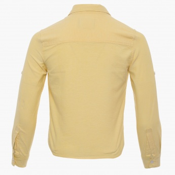 FAME FOREVER Textured Full Sleeves Shirt