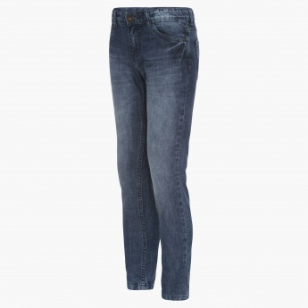 BOSSINI Whiskered Wash Slim Fit Jeans