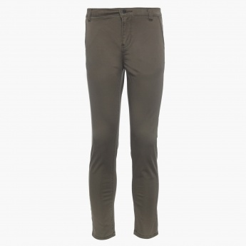 BOSSINI Kids Solid Slant Pocket Pants
