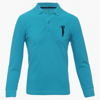 BOSSINI Full Sleeves Polo Neck Tee