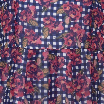 BOSSINI Checks Floral Print Dress