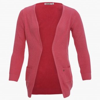 BOSSINI Knitted Front Open Jacket
