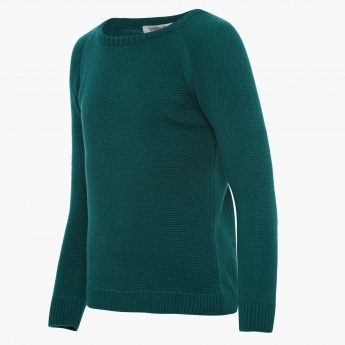 BOSSINI Solid Full Sleeves Sweater
