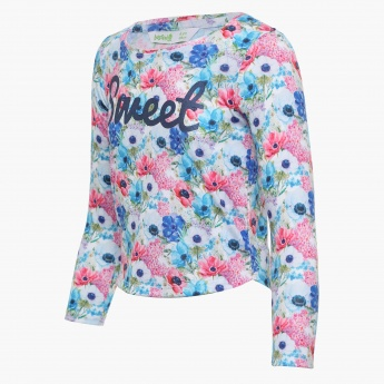 BOSSINI Floral Print Full Sleeves Top