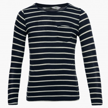 BOSSINI Striped Full Sleeves Top
