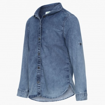 BOSSINI Full Sleeves Denim Shirt