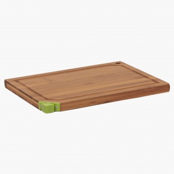Stanford Bamboo Cutting Board With Knife Sharpener-Medium