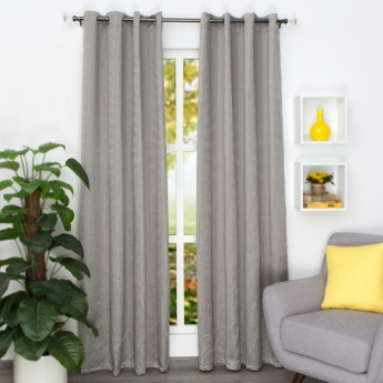 Marshmallow Chennile Door Curtain-Set Of 2-135 x 225 CM