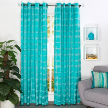 Matrix Griffin Black Out Door Curtain - Set of 2 - 225 x 135 cm