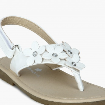 JUNIORS Flowery Fix Velcro Closure Sandals