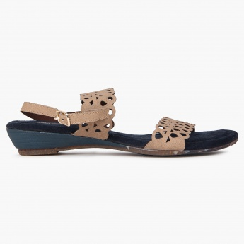 RAW HIDE Perforated Strap Sandals