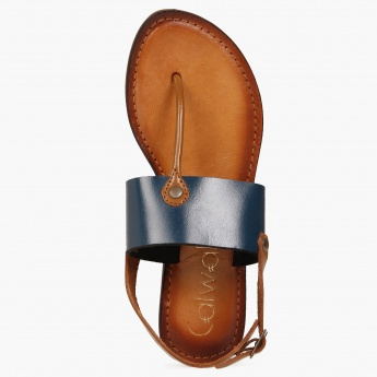 CATWALK Buckle Closure Tan Sandals