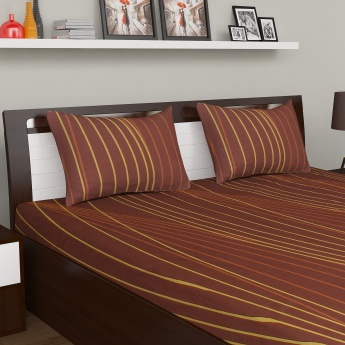 PORTICO Marvella Queen Bedsheet Set-3 Pcs.