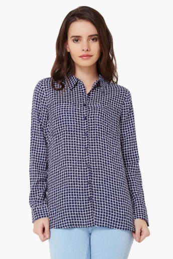 FAME FOREVER Graph Check Full Sleeves Shirt