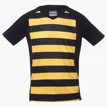 KAPPA Striped V-Neck T-Shirt