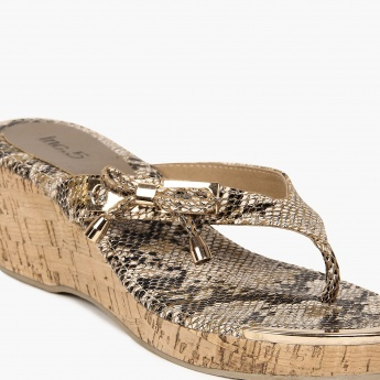 INC.5 Animal Instinct Cork Heels