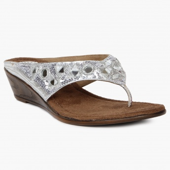 SHUZ Mirror Work Mini-Wedges