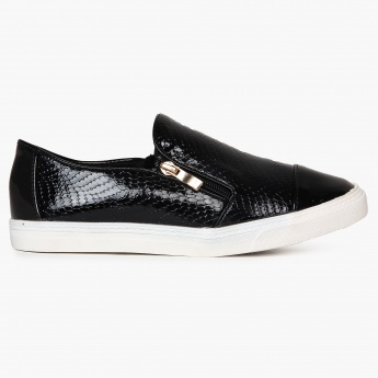 GINGER Patent Finish Slip Ons Sneakers