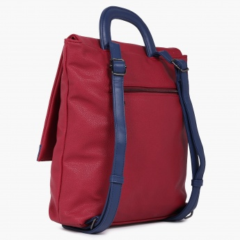 CAPRESE Flora Pebble Grain Finish Backpack