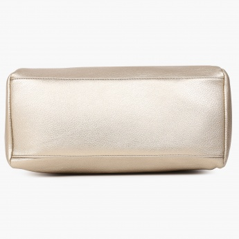 CAPRESE Diane Metallic Finish Handbag