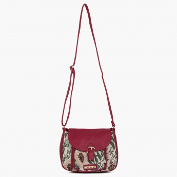 CAPRESE Floral Embroidery Sling Bag