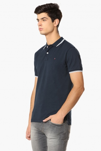 LP Solid Polo Neck T-Shirt