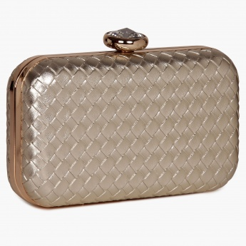PAPRIKA Basket Weave Evening Clutch
