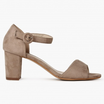 CODE Suede Finish Block Heels