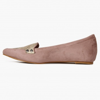 CODE Pointed Toe Suede Finish Flats