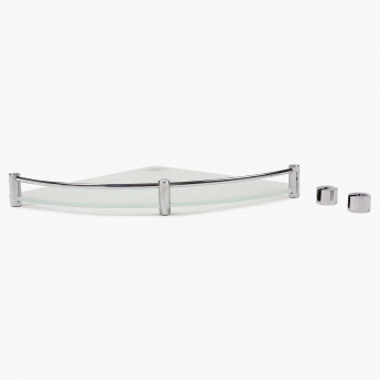 Adrian Aeron Frosted Corner Glass Shelf