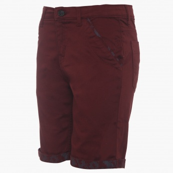 GINI & JONY Solid Slant Pocket Shorts