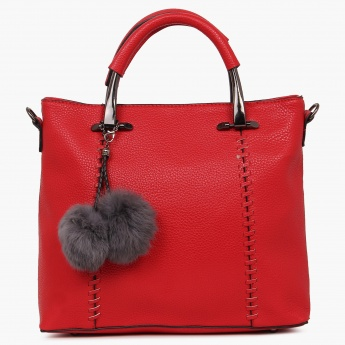 CODE Fur Ball Charm Handbag