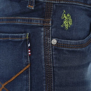 U.S. POLO ASSN. Stonewashed Whiskered Jeans