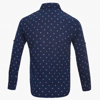 U.S. POLO ASSN. Printed Full Sleeves Shirt