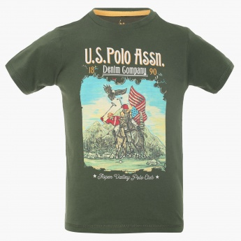 U.S. POLO ASSN. Chest Imprint Crew Neck T-Shirt