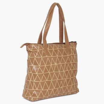 GINGER Geometric Gig Tote Bag