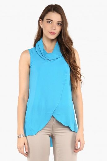 AND Cowl Neck Sleeveless Blouse