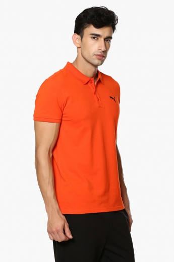 PUMA Solid Polo Neck T-Shirt