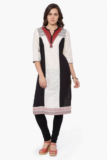 AURELIA Round Notch Neck Kurta