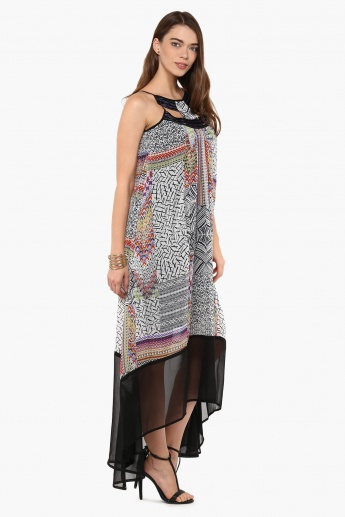 AND Printed Handkerchief Dress