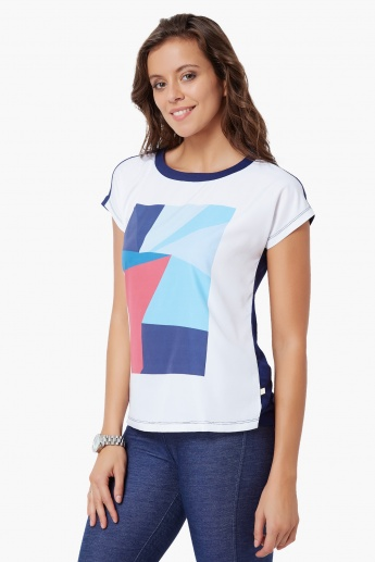 UNITED COLORS OF BENETTON Geometric Imprint T-Shirt