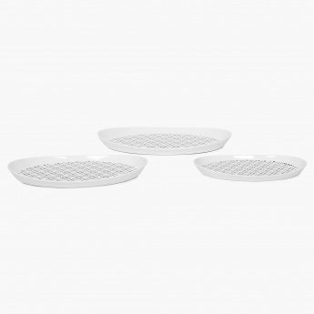 Brigade Melamine Serving Tray-Set Of 3 Pcs.