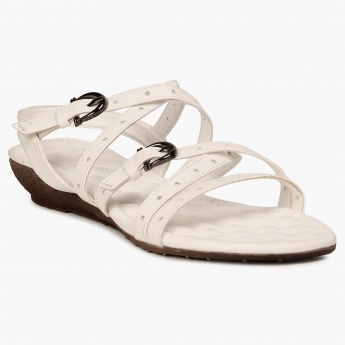 CODE Strappy Mini-Wedges Sandals